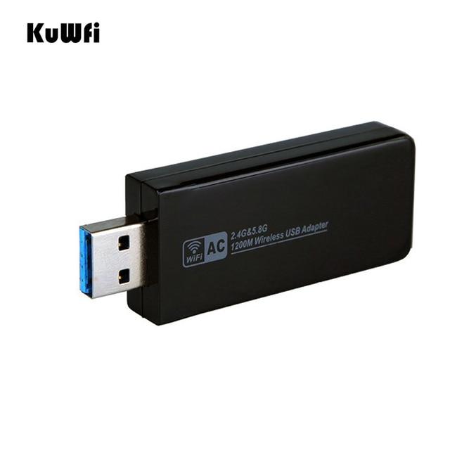 11AC 1200Mbps USB3.0 محول لاسلكي 2.4G/5.8G ثنائي النطاق USB جهاز استقبال واي فاي 2T2R هوائي AP بطاقة الشبكة اللاسلكية لسطح المكتب