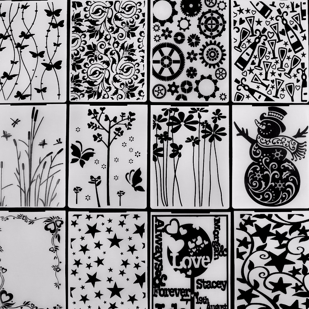 ZhuoAng Beautiful Flowers&plants Embossing Folder for Scrapbook DIY Album Card Tool Plastic Template