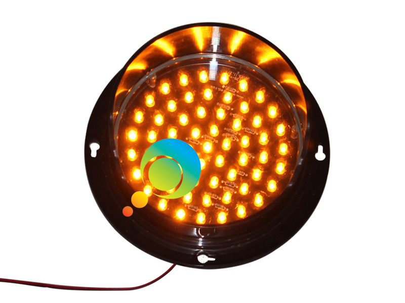 DC12V 5 Inch Lamp Customized Mini Traffic Light Module With Visor High Brightness Yellow LED Light  For Sale