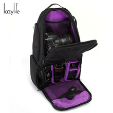 Discount! LAZYLIFE Video Photo Digital Camera Shoulders Padded Messenger Bags Case Waterproof Shockproof Large Bags for Canon Nikon DSLR