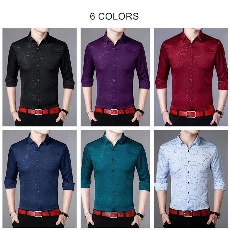 Coodrony Brand Men Shirt Autumn New Arrival Casual Shirts Long Sleeve Cotton Shirt Men Streetwear Fashion Striped Clothing 96010