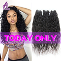 Indian Water Wave Virgin Hair 3 Bundles 8A Indian Curly Virgin Hair Indian Human Hair Weave Curly Indian Virgin Hair Water Wave
