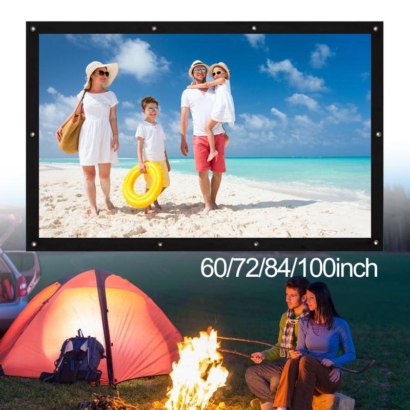 Cewaal Soft Foldable 72 inch 4:3 Ratio Polyester screen for projector Film PVC Home Theater HD Courtyard Projection ScreenCewaal Soft Foldable 72 inch 4:3 Ratio Polyester screen for projector Film PVC Home Theater HD Courtyard Projection Screen