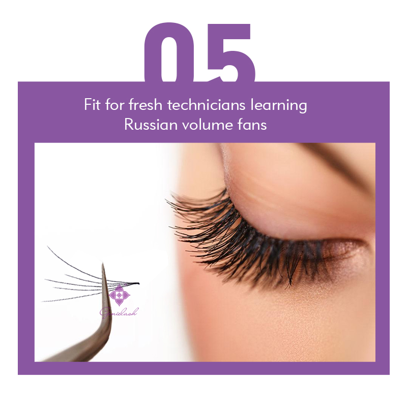 Image 5 - Genielash 5D premade lashes premade fans for volume eyelash extensions easy to pick eyelash bundles makeup lashes 10pcs/lotFalse Eyelashes   -
