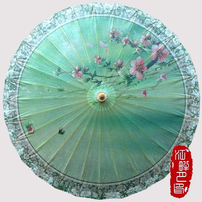 Paisaje de primavera chino Sombrilla Sombrillas Paraguas Mujeres - Bienes para el hogar