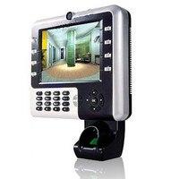 Биометрические Измерения рабочего времени контроля доступа машина поддерживает пальцем + PIN с камерой