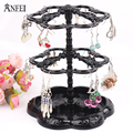 Hot selling Chic Retro Rose Pattern Earrings Holder Turnable Jewelry  Stand Organizer jewelry holder earring display rack
