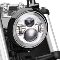 7inch Motorcycle Projector Daymaker Chrome Led Light Bulb Headlight For Harley