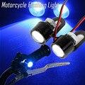 1 Pair High Quality Car Motorcycle Led Strobe Flash Warning Light Brake Light Spotlights Fish Eye Lens Lamp Blue LED
