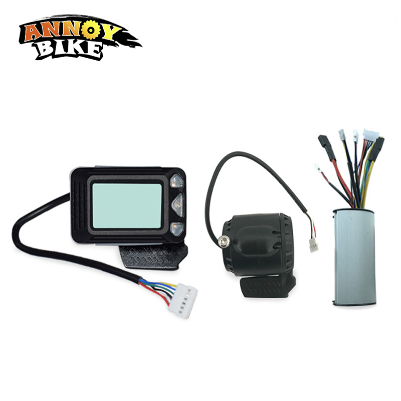 Ebike Controller Brake LCD display 24V 250W Carbon Fiber Electric Scooter Controller Brushless Motor Electric Bicycle Accessory