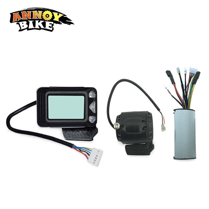 Ebike contrôleur frein LCD affichage 24 V 250 W en Fiber de carbone électrique Scooter contrôleur moteur sans brosse vélo électrique accessoire