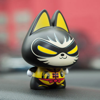 CHSKY Car Decoration Cat Car Dashboard Toys Cute Funny Bruce Lee PVC Car Dashboard Decoration Cute Auto Accessories Gifts