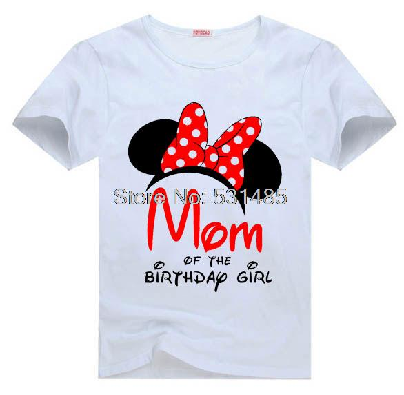 T Shirt Mouse Ears Mom Of The Birthday Girl Personalized Party For Kids Children Boy Cartoon In Shirts From Mother On