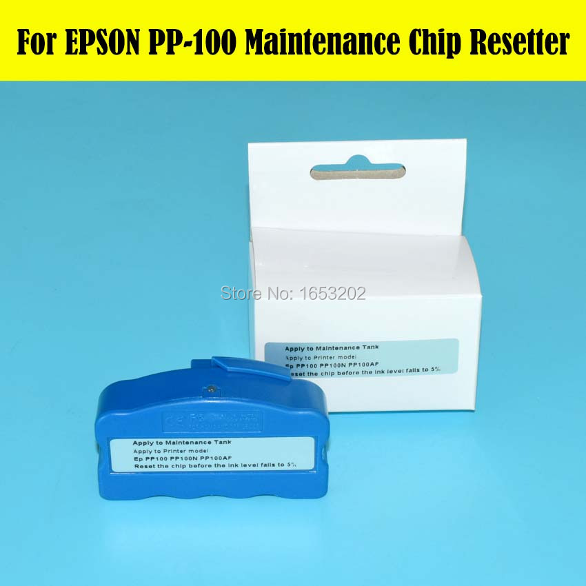 NEW !!! 1 PC Waste Ink Tnak Chip Resetter For Epson PP-100 PP100N PP100AP PP-100N PP-100AP Printer Maintenance Tank 1 pc waste ink tank for epson sure color t3070 t5070 t7070 t5000 t3000 printer maintenance tank box
