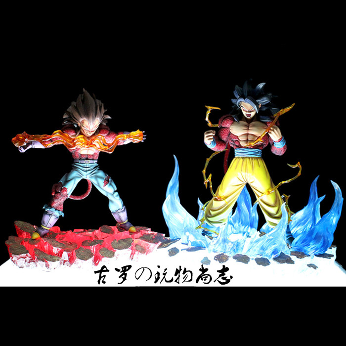 MODEL FANS Anime Dragon Ball Z 35CM Super Saiyan 4 Son Goku/Vegeta Resin GK Figure Toys [show z store] fanstoys ft 08x grinder fans toys iron dinobots no 5 masterpiece grimlock premium paint figure