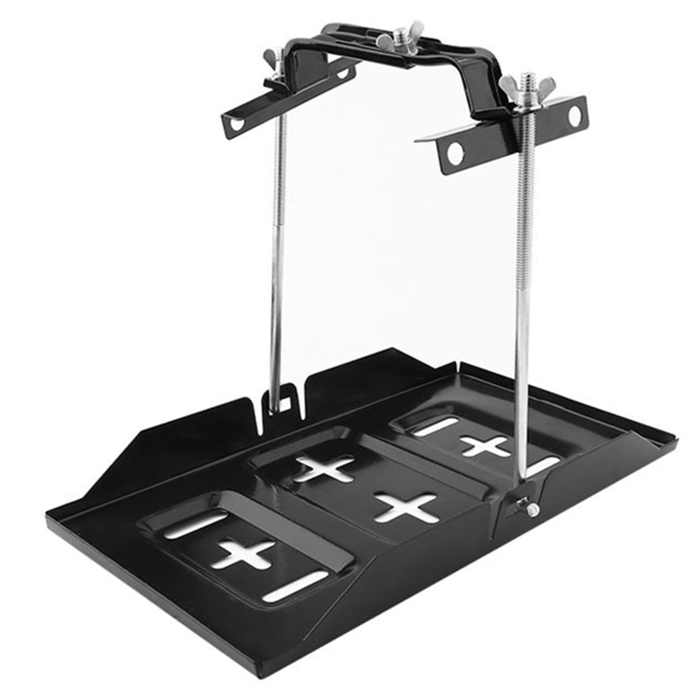 Battery Hold Down Tray Storage Battery Holder Tray Mount Hold Down Clamp Bracket Kit Car Accessory 19cm