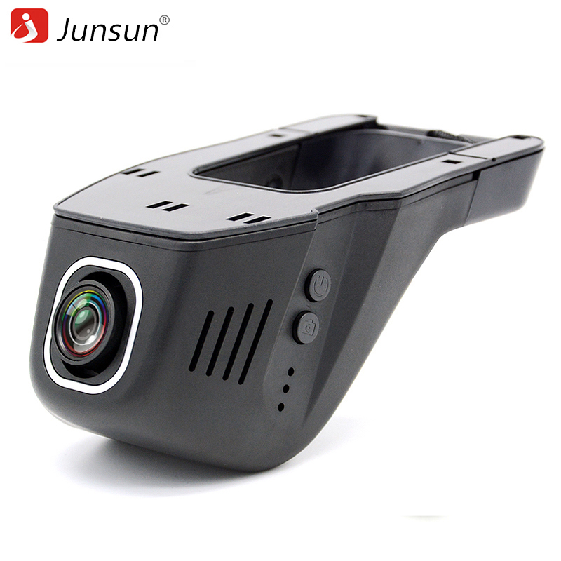 Junsun WiFi Car DVR Camera Novatek 96655 IMX 322 Full HD 1080p Universal Dashcam Video Registrator Recorder APP Manipulation junsun wifi car dvr camera novatek 96655 dash cam video recorder full hd 1080p for ford mondeo general model 2015 dvrs recorder