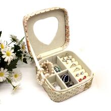 Women s Mini Drop stud earrings rings Jewelry Box Useful Makeup Organizer Case With Zipper Travel Portable For Lady