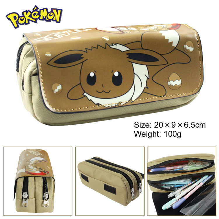 Anime Pokemon Eevee Jolteon Boy Girl Cartoon Pencil Case Bag School Pouches Children Student Pen Bag Kids Purse Wallet Gifts 2016 new fashion novelty despicable me kids cartoon backpacks children minion school bag boy girl mochilas