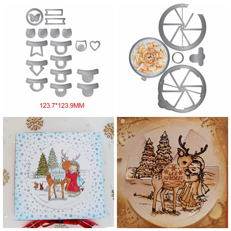 Magic Windows Sets 2019 Metal Cutting Dies Stencil For DIY Scrapbooking Embossing Photo Album Decoration Paper Cards Craft New