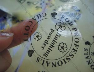 Image 4 - Customized transparent PVC sticker waterproof adhesive label printed Customer logo free shipping 1000pcs 2cm/3cm/4cm/5cm/6cm