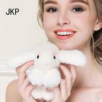 Oryginalna mink Fur królik Torba Brelok breloczek Samochód Wisiorek Charm Tag Śliczne Mini Zabawki Lalki Prawdziwe Futro Królika Potwór Króliczek Pęk Kluczy
