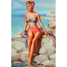 YIKEE diamond painting A swimsuit girl,5d full drill diamond paintings,5d diy diamond K692 крем 5d