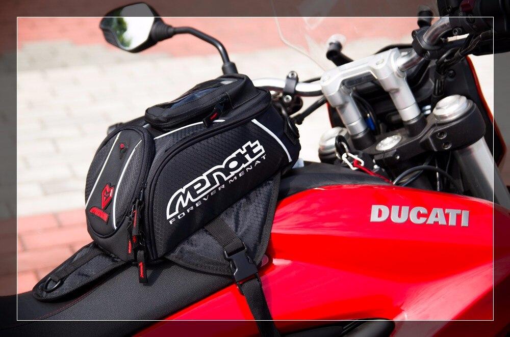 Подлинная МЕНАТ черный нефть топливного бака Сумка магнитный мотоцикл мотоцикл заднее сиденье сумка R1 и CBR1000RR на ZX-10r с системы GSX-Р1000 МБ-019