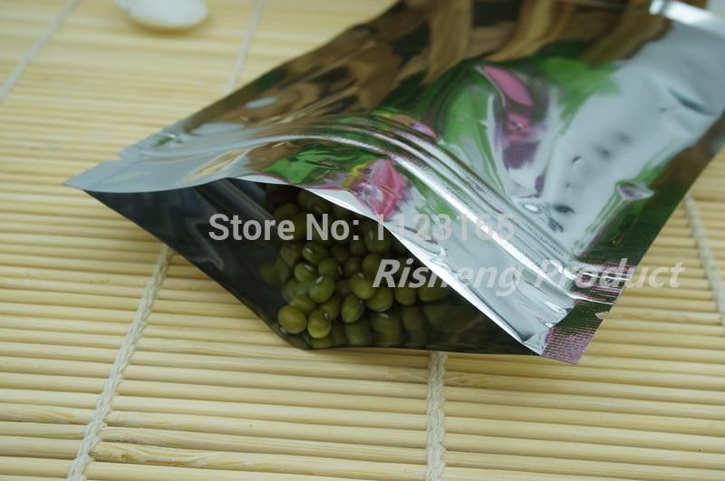 14x20cm,100 X Reusable Silver plating Aluminum foil Zip Lock bag - Resealable zipper lock Mylar foil plastic pouches grip seal