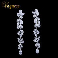 Spring Flower Wedding Earrings With Swiss AAA Cubic Zirconia Gorgeous Bridal Earrings Wedding Accessories Fashion Jewelry