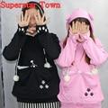 Bolsa cat lovers sudaderas con abrazo perro mascota canguro hoodies casual suéteres con orejas sudadera 4xl envío de la gota