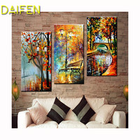 """DAIFEN 3 pcs Full Square / Round Drill 5D Diamond Painting """"Autumn landscape Multi photo combination Embroidery Gift"""