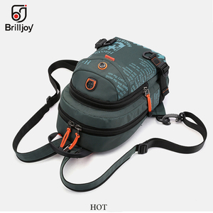 Image 4 - Brilljoy New Men Backpack School Bag Chest Rucksack Bag Military Casual Fashion Male Cross Body One Shoulder Bag Sling Backpack