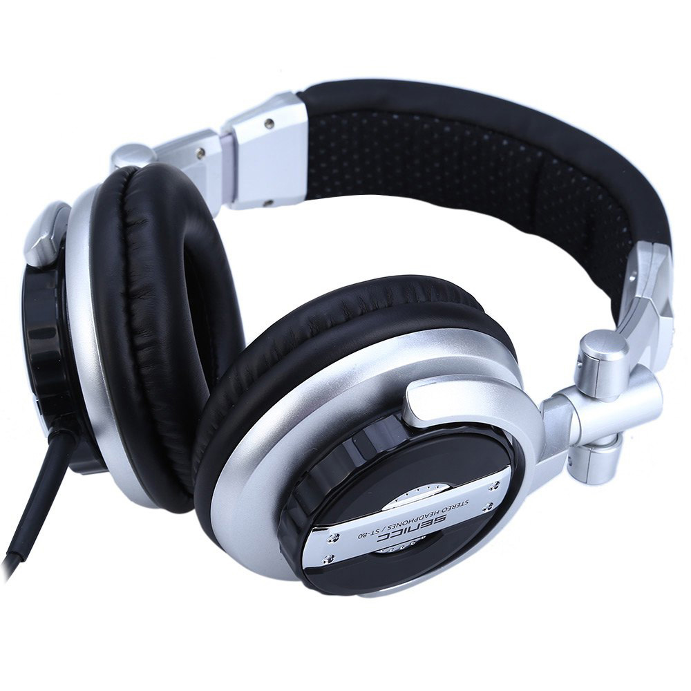 Somic ST-80 Music Headset Headphones Professional Monitor HiFi Subwoofer Enhanced Super Bass Noise-Isolating DJ Microphone somic g929 sorround sound noise isolating powerful bass hifi music computer gaming 3 5mm headset headphones for cs cf dota lol