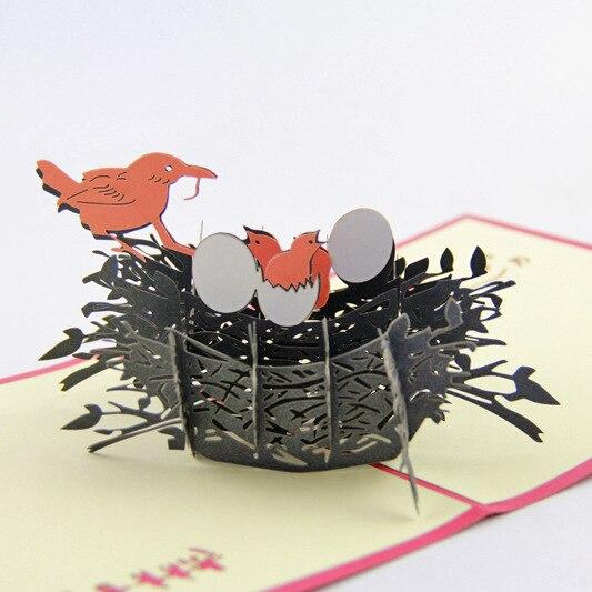 Cubique Vie Quechao Stro Cartes Nid Damour 3D Carte De Visite Personnalisation