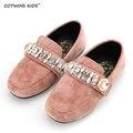 CCTWINS KIDS primavera otoño niño rhinestone de la manera slip-on para niños baby girl flat pu niño marca rosa zapato G970