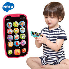 Learning Educational Toys Cellphone with Light/Music Baby Kid Educational phone English Learning Mobile Phone Toy Xmas Gift(China)