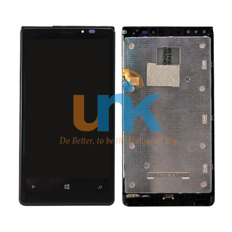 Free Shipping New Full Touch Digitizer Glass+LCD Display Screen Assembly Frame For Nokia Lumia 920 Replacement 5PCS/LOT aaa quality replacement for nokia lumia 920 lcd display with touch screen digitizer assembly with frame free shipping