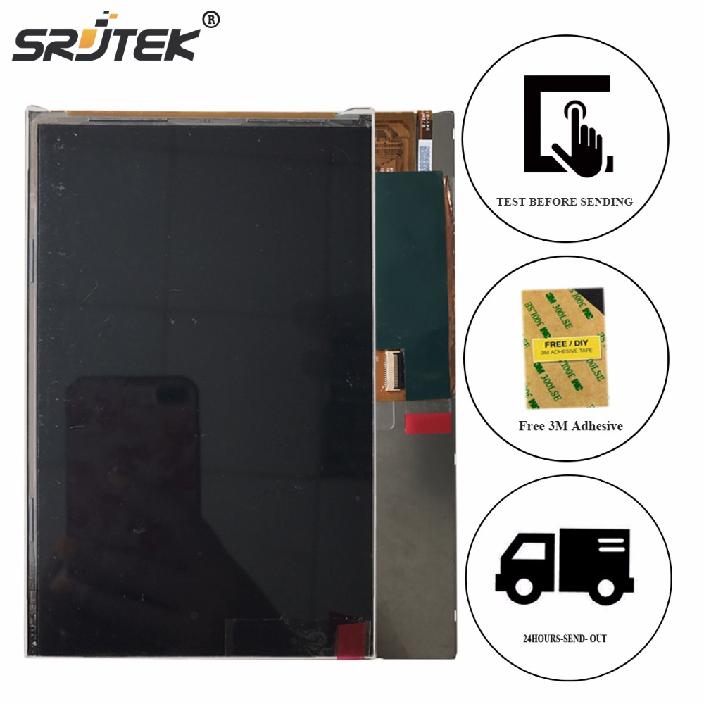 Srjtek 7 Matrix Screen For PocketBook SurfPad 2  LCD Display Tablet PC Screen Panel Replacement Parts Free Adhesive pocketbook for u7 surfpad red