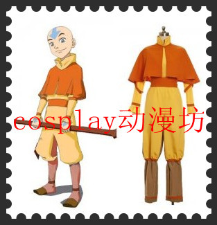 <font><b>Avatar</b></font> <font><b>Aang</b></font> Halloween Cosplay Costume image