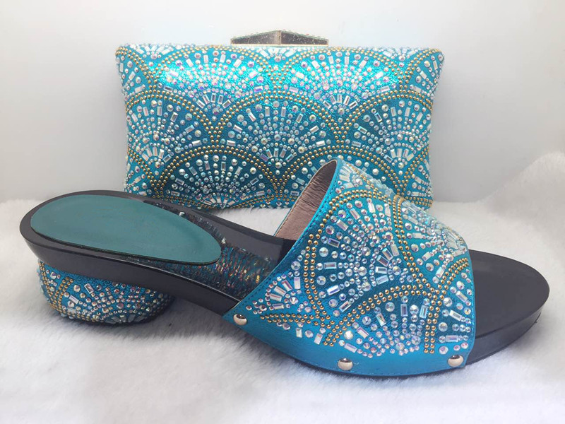 New Coming African Sandals Italian Shoes and Bags To Match Shoes with Bag Set Italian Matching Shoes and Bags Sets WJJ1-35 2017 new coming italian fashion black ab
