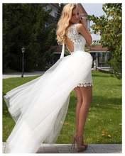 Новинка 2020 года; Дешевое свадебное платье принцессы; Мини