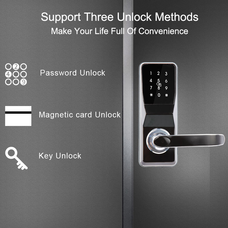 Eseye Smart Door lock Fingerprint Lock  Intelligent Electronic Locks Verification Safe