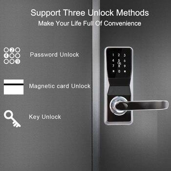 Eseye Smart Door lock Fingerprint Door Lock  Intelligent Electronic Locks Smart Fingerprint Verification Safe Electronic Lock