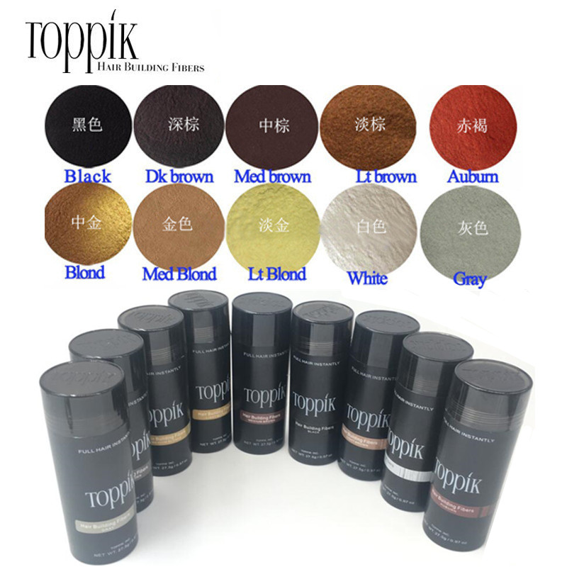 Toppik Salon Beauty Toppik Hair Fiber Keratin 27.5g Hair Building Fibers Powder Hair Loss Concealer Hair Care Growth Products