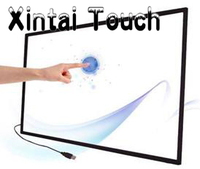 Free Shipping! 55 multi 10 points IR touch screen panel overlay kit for kiosk