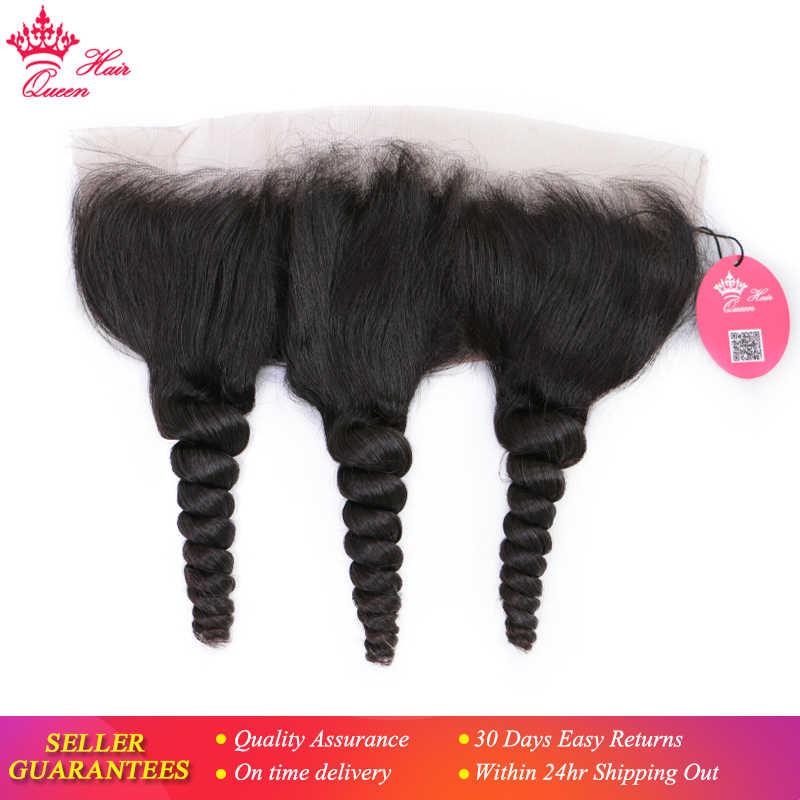 """Productos para el cabello reina onda suelta 13x4 oreja a oreja Pre desplumado encaje cierre Frontal pelo virgen brasileño 10 """"-18"""" envío gratis."""