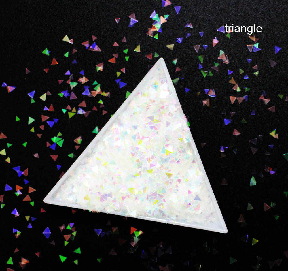10g/pack,Mix Star/Hexagon /Rhombus/Triangle Shapes Sequins, Iridescent Rainbow Shining Slices 3D nail art glitters paillettes.