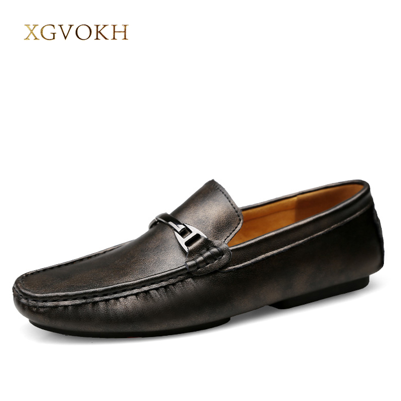 Men Loafers Genuine Leather Mens Leisure Flat Spring Formal Casual Dress Moccasin xgvokh brand Men's Shoes Driving Casual Boat amaginmni brand genuine cow leather mens loafers 2017 fashion handmade mens casual shoes breathable comfortable boat shoes men