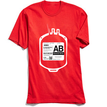 2018 New Fashion T Shirt Man T-shirts My Bloodtype is AB for Absolute Bomb! Hipster Street Tshirt Custom Halloween Team Tops